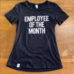 Employee of the Month T-shirt Black Sz Small